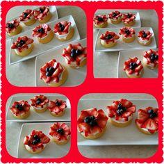 Vanilla cupcake w/ cream cheese whipped cream frosting & fresh strawberries
