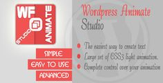 Wordpress Animate Studio by Leavy Demo Video Wordpress Animate Studio is a new Wordpress plugin that use a large set of css animation to create an advanced and easy to use text animation studio right on your blog. Creating text slider, animated label promoting phr