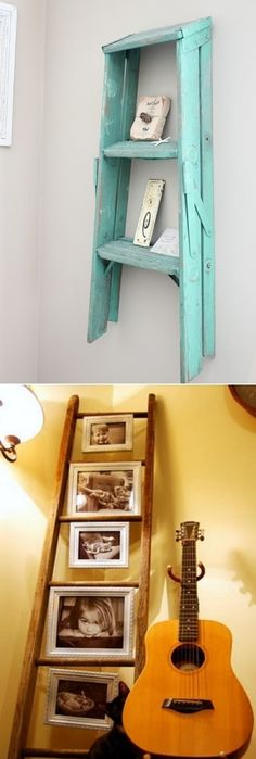 Old ladder DIY decoration ideas