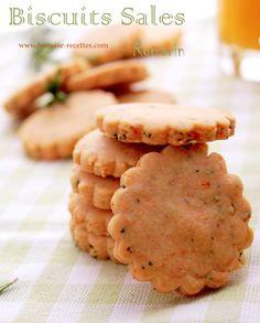 Biscuits salés au fromage et romarin - Bonoise recettes