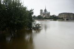 La Seine en crue près de Notre-Dame à Paris le 4 juin 2016