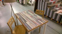 Van een oude tafel maak je met een pak laminaat (design sloophout) weer een…