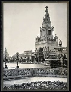 """""""The Tower of Jewels""""  -  Willard E. Worden photographer, Panama-Pacific International Exposition, PPIE, 1915, San Francisco, Calif. -- Jerry Bianchini Collection"""
