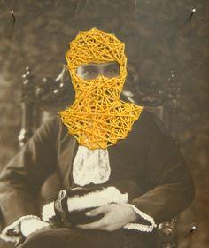 """6.528.13"". bordado sobre fotografia. 2013 Crochet Necklace, Textiles, Fictional Characters, Jewelry, Art, Stuff Stuff, Needlepoint, Fotografia, Art Background"