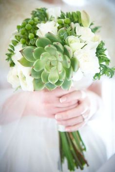 Love this bouquet! I have never seen succulents in bouquet before Green Wedding, Our Wedding, Perfect Wedding, Wedding Bouquets, Wedding Flowers, Bridesmaid Bouquets, White Bouquets, Flower Bouquets, Bridesmaids