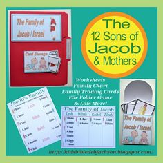 Genesis: Jacob & His Family: There are several choices for printing Jacob's family with today's post!