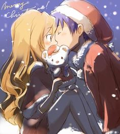 Christmas Anime Couple Toradora