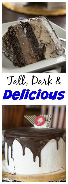 Get ready for Father's Day with a Tall, Dark & Delicious Ice Cream Cake.  The best way to celebrate and cool off!