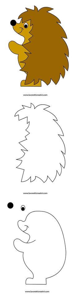 Šablony - ježek: