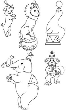 Circus Crafts, Circus Art, Projects For Kids, Art Projects, Crafts For Kids, Coloring Books, Coloring Pages, Circus Decorations, Circus Carnival Party