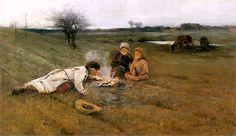 """Apoloniusz Kędzierski.""""W polu"""" 1889r."""