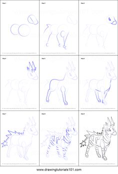 How to Draw Zebstrika from Pokemon printable step by step drawing sheet : DrawingTutorials101.com