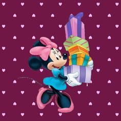 Minnie's got her holiday shopping done and ready to give gifts to her friends.