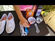 HOW TO CLEAN   WHITEN YOUR SHOES - EASY FASHION HACK - YouTube c444b13403c47
