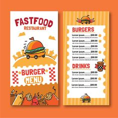 Restaurant menu with suggestive hamburger Food Menu Template, Restaurant Menu Template, Restaurant Menu Design, Restaurant Identity, Burger Menu, Burger Restaurant, Cafe Geek, Menu Digital, Menu Flyer