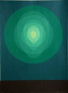 Clarence Holbrook Carter, American - Title: Untitled - Teal Circle Mandala Year: 1969 Medium: Silkscreen, signed and numbered in pencil Edition: 75 Paper Size: 30 x 22 inches via Ro Gallery. Op Art, Abstract Prints, Spiritual Art, Painting, Tantra Art, Art, Design Art, Artsy, Abstract