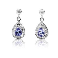 Diamond and Tanzanite Earrings *Prices Valid Until 25 Dec 2013 Gold Jewelry, Fine Jewelry, Tanzanite Earrings, July Wedding, Silver Rings, Bling, Pendant Necklace, Drop Earrings, Diamond