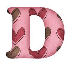 CH B *✿* Alfabeto corazones...D