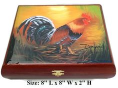 Beautiful  Humidor Cigar Box w/Artwork on top. Limited Edition
