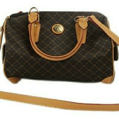 """""""Bandouliere Speedy Boston Satchel  BG-#3045004"""" Rioni Satchel With Cross Body Strap. Little to no signs of wear.Light markings on leather piping. See photos . Rioni Bags Satchels"""