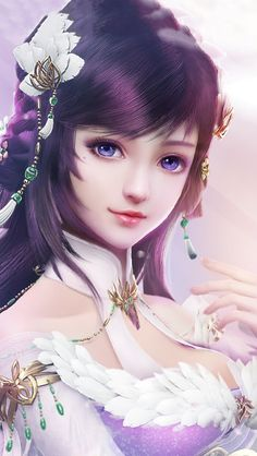 Fragrance Beauty - Fu Lengxiang is a girl born in a wealthy noble family. Blessed with a bright mind, she makes perfum - Anime Art Fantasy, Fantasy Art Women, Beautiful Fantasy Art, Fantasy Girl, Fantasy Artwork, Fantasy Books, Anime Angel Girl, Anime Art Girl, Pretty Anime Girl