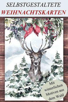 Weihnachten rückt näher und wir haben ganz besondere Weihnachtskarten erstellt, auf welchen winterliche Naturmotive und Tiere aus dem Wald zu sehen sind. Die Grußkarten werden mit Kraftpapier Umschlägen versendet und sind einzeln und im 4er Set in unserem Kräuterhexen – Onlineshop unter www.die-moderne-Kräuterhexe.de erhältlich.