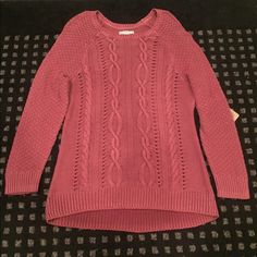 Blush Knit Sweater Brand New with Tag Ruff Hewn Sweaters Crew & Scoop Necks