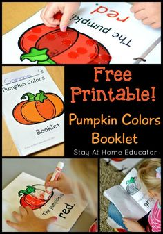 Free printable pumpkin colors booklet - Stay At Home Educator