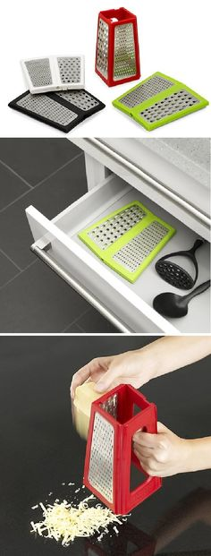 Space Saving Kitchen Grater in red of course.