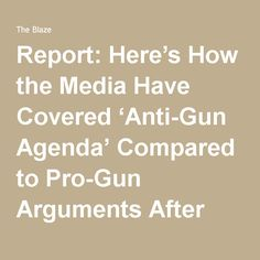 Report: Here's How the Media Have Covered 'Anti-Gun Agenda' Compared to Pro-Gun Arguments After Orlando Attack | TheBlaze.com
