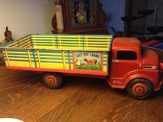 Antique Toy Metal Farm Truck | eBay