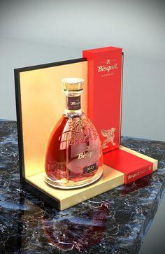 Bisquit Cognac Glorifier, POS, POP. Point of sale. Point of purchase. Designed by Lance Eggersglusz.