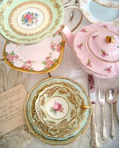 A Traditional Vintage High Tea - what a great idea for a birthday!