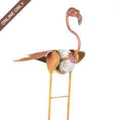 Metal Flamingo Garden Stake. I told Jeff I would find a non-tacky pink flamingo!