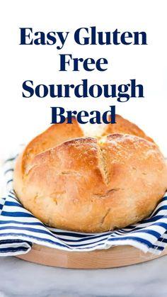 Gluten Free Sourdough Bread, Grain Free Bread, Gluten Free Homemade Bread, Gluten Free Bread Recipe Easy, Gluten Free Biscuits, Sourdough Recipes, Gluten Free Cooking, Dairy Free Recipes, Wheat Free Bread Recipes
