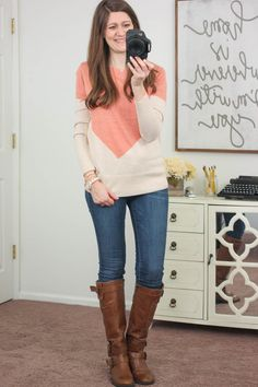 Stitch Fix Stylist! Please send me this sweater!!!!! Love the colors!!!! Presley Colorblock Button-Back Sweater from 41Hawthorn