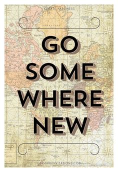 Go Somewhere New Travel Inspired Poster Print by Earmark on Etsy, $35.00