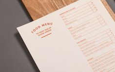Dr Morse brand identity and menu designed by Seesaw.
