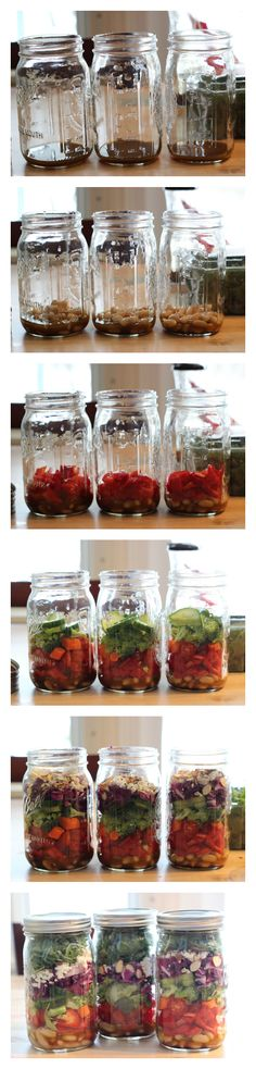 How to Assemble a Mason Jar Salad