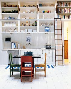 Great look and good use of space, but maybe not very practical -- especially if you live along a fault line!