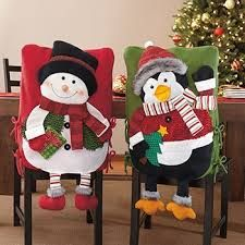 Christmas decoration to your chair at holiday season Christmas Sewing, Felt Christmas, Little Christmas, Handmade Christmas, Christmas Time, Christmas Stockings, Christmas Crafts, Merry Christmas, Easy Christmas Decorations