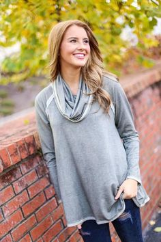 Olive Cowl Neck Sweater, $33.99, Free Shipping | olive green, light, faded, solid, tunic, tunics, shirt, shirts, top, tops, blouse, blouses, sweater, sweaters, sweatshirt, sweatshirts, turtleneck, cute, adorable, perfect, soft, comfortable, 2016, fashion, style, blogger, blog, boutique, new, shop, boutiques, kentucky, ky