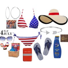 Saturday In the Park, I Think It was the 4th of July by cindiawb on Polyvore featuring MARBELLA, Allurez, Bling Jewelry, Eugenia Kim, Jimmy Choo, Nivea, Picnic Time and Happy Jackson