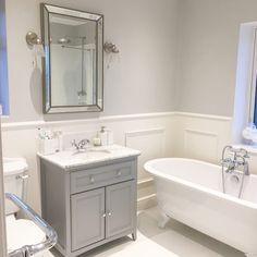 Small Toilet Room, Small Bathroom, Bathroom Layout, Bathroom Interior Design, Bathroom Ideas, Victorian Style Bathroom, Edwardian Bathroom, Bathroom Paneling, Downstairs Toilet