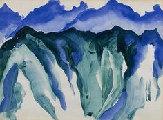 Machu Picchu - Georgia O'keeffe 1956 American 1887-1986 Watercolor on paper, 9 x 11 7/8 inches Heckscher Museum of Art, Baker/Pisano Collection, Huntington, New York