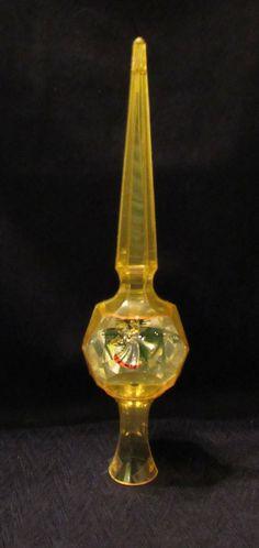 Vintage Jewelbrite Mid Century Hard Plastic Diorama Christmas