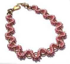 Bubblegum Ruffles Chainmaille Necklace by XquisitelyLadyM for $65.00