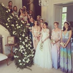 Noor Fares' glam bridal party: http://www.stylemepretty.com/europe-weddings/france/normandy/2015/06/17/inside-the-magic-of-noor-fares-over-the-top-french-wedding-to-alexandre-al-khawam/