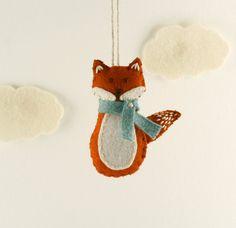 Red Fox Christmas Ornament felt fox woodland by GreyFoxFelting Orange Ornaments, Fox Ornaments, Holiday Ornaments, Felt Fox, Wool Felt, Friendly Fox, Animal Sewing Patterns, Winter Birthday, Christmas Time