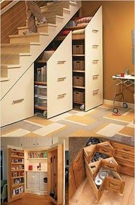 Love love love the under-stair storage!! Best use of wasted space!